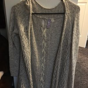 Sweaters - Very cute lace up cardigan. Sz. S
